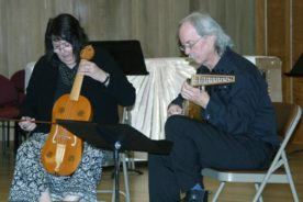 Pat O'Scannell and James Edwards playing Douce Dame Jolie by Guillaume de Machaut