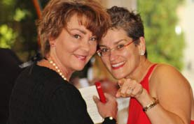 Fundraising publishing advisor Stacy Bannerman and host Ginger Johnson