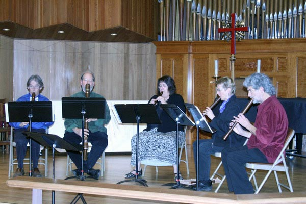 Ensemble Fontegara at St. Mark's Episcopal Church in Medford, presenting their program: The Music of Shakespeare's England.