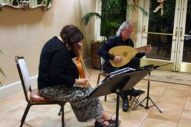Pat plays the vielle (medieval fiddle) with lutenist James Edwards : Douce Dame Jolie by Guillaume de Machaut.