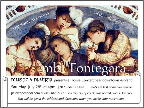 Fontegara Concert July 28 2018