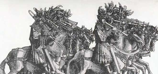 Mounted Horn Players