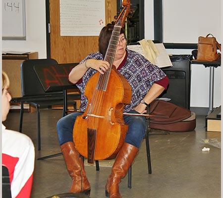 Pat O'Scannell bass viola da gamba
