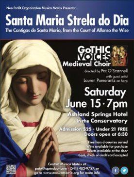 Concert - Santa Maria, Strela do Dia