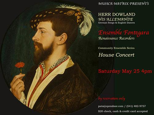 John Dowland Concert May 25 2019