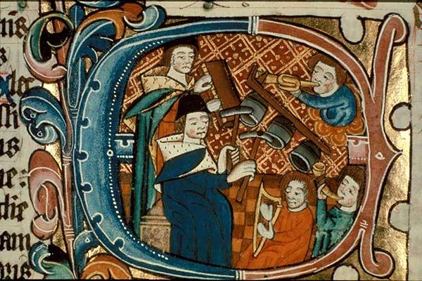 Medieval Musicians Illustration