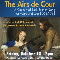 Concert: The Airs de Cour - Oct 18, 2019