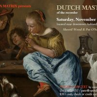 Dutch Masters of the Recorder Concert in Ashland